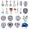 Wostu New Arrival 925 Sterling Silver Charms Fit European Bracelet Various Style