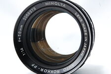 Minolta AUTO ROKKOR-PF 58mm F1.4 SN2068373
