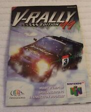 NINTENDO 64 Vintage Manual *** V-RALLY EDITION 99 *** usado estado