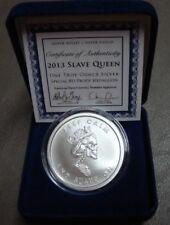 RARE 1 OZ SBSS Silver Shield 2013 SLAVE QUEEN SPECIAL BU PROOF W/ COA & Blue Box