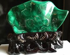 Malachite Polished Specimen - Congo - Collectors Piece 1kg With Stand