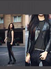 VERSACE FOR H&M BLACK ICONIC GOLD STUDDED LOGO LEGGINGS US6/EU36/UK10 RARE