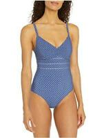 Seafolly Women's DD Cup One Piece Swimsuit with Underwire,, Blue, Size 10.0 XRze