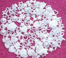 Ice White DIY 20g 100pcs Mixed Pearl Shapes Embellishments Flatback Decoden Kit