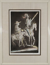 "Irving Amen (b.1918) American ""Knight and Squire"" signed Lithograph Print"