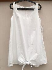 BNWT Zara bianco cotone oversize abito/top lungo piccole.