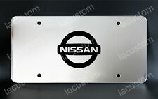 Nissan License Plate, Custom Made of Chrome Plated Metal
