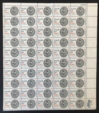 US Sheet 5¢ Stamps (50) SEARCH FOR PEACE c 1967 gummed #1326 *