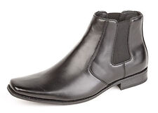 Chelsea, Ankle Boots Synthetic Leather Slip On Shoes for Men
