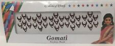 BINDI maharatto Half Moon Bindis Crystal Bollywood gioiello Tikka lunga Multi Pack