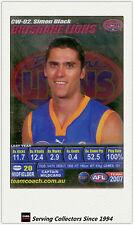 2007 AFL Teamcoach Trading Card Silver Captain CW2 Simon Black