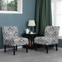 Fabric  Slipper Chair Armless Accent Chair Dining Chair Bedroom Living Room