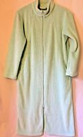 Croft & Barrow Womens Bathrobe XL MINT GREEN Polyester Long Sleeve Full Zip EUC