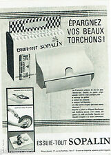PUBLICITE ADVERTISING 115  1961  Essuie-tout SOPALIN