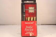 c1974 Osmiroid No. 65 Italic Pen Set, Red USA Edition