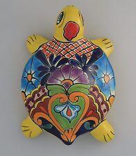 TURTLE Mexican Talavera Ceramic Wall Decor Hanging Pottery Folk Art Handmade 5