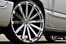 26 Inch Velocity V12 chrome Wheels Rims & Tires fit 6 X 5.5 Escalade Sierra