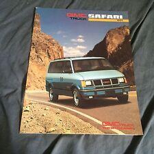 1991 GMC Safari Vans Color Brochure Catalog Prospekt