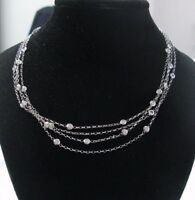 Nini Collection 18Kt Diamond By The Yards White Gold Necklace 2.11Ct