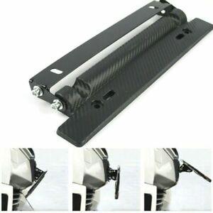 Van Car Racing Adjustable Carbon Fiber Style License Plate Frame Bracket Holder