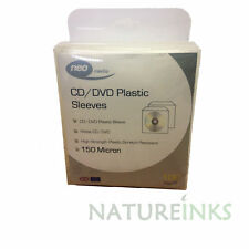 500 High Quality THICK 150 Micron clear plastic CD DVD sleeves Side STITCH