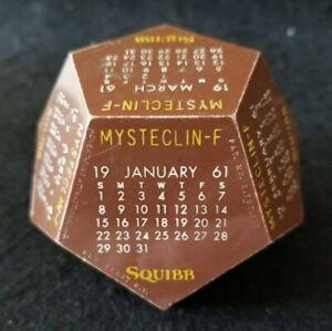 Vintage 1961 Squibb Pharmaceutical Advertising Desk Calendar