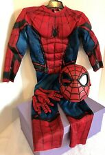 Spiderman Halloween Costume Kids XS Gloves Mask Rubies Halloween Padded Unisex