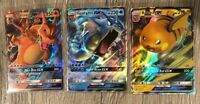 ULTRA RARE Charizard GX + Gyarados GX + Raichu GX Pokemon Promo SM211 212 213 LP