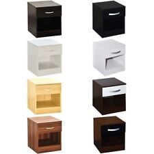 Hulio Riano 1 Drawer Chest Solid Wood High Gloss Bedroom Storage Furniture Unit