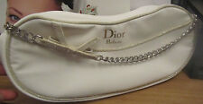 100% Genuine CDior White & Gold with Silver Chain Makeup Bag/Evening Clutch Bag