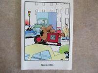 "Vintage ""The FAR SIDE"" 1986 Blank Inside  ""Cow Joyrides""   NEW MINT"