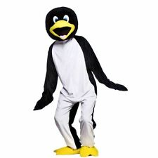 Adult Cool Penguin Big Head Mascot Costume Fancy Dress Animal Zoo Arctic New