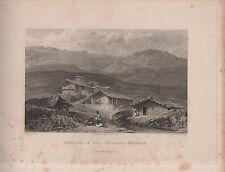 "India/Antiguo Impresiones - ""jerdair-un pueblo Hill-gurwal"" - Cox & Elliott (1833)"