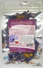 Dried  Nymphaea caerulea  Blue Lotus  Tea crushed flowers Herb tea 10 Grams