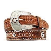 Nocona Men's Hide On Brown Leather Western Belt N2506808