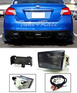For 15-18 Subaru WRX STi Rear Brake Smoke Fog Lights With Mounting Bracket JDM