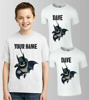 Personalised Batman DC Comics T-Shirt, Your Name Boys Girls Birthday Kids Top