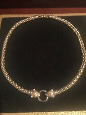 14K Yellow and White Gold Double Panther Heads Necklace
