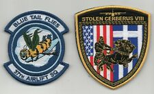 USAF 37th Airlift Squadron Stolen Cerberus VIII Greece TDY patches on ve/cro