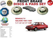 Per Renault 9 L42 Berlina 81-89 Anteriore Solid Dischi Freno Set + Pastiglie Kit