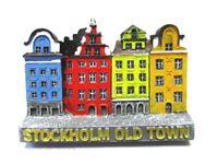 Estocolmo Imán Suecia Recuerdo Poly Casco Antiguo Gamla Stan Casas