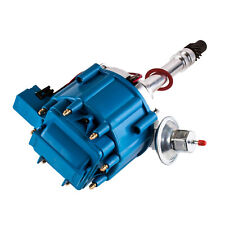 Racing Chevy V8 Hei Distributor With 65k Coil 7500rpm 350 454 Sbc Bbc Gm08 Blue Fits Pontiac