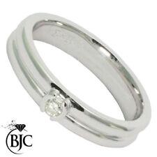 Anillos de joyería con diamantes en oro blanco de 18 quilates VS1