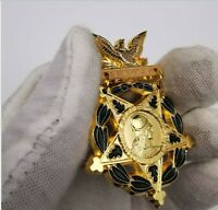 US FULL SIZE COPY MEDAL HONOR OF HONOUR MOH PIN ARMY VALOR PIN W Box