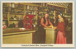 Dearborn Michigan~General Store Interior View~Greenfield Village~Vintage Postcar