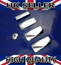 FORD TRANSIT CHROME 4 DOOR HANDLE COVERS COVER SET STAINLESS STEEL  2003>