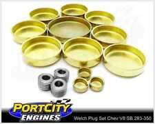 Welch Welsh Brass Core Plug Kit Set Chev V8 262 283 302 305 307 327 350 WPK-C350