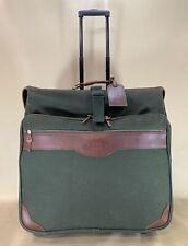 Orvis Battenkill Leather Canvas Green Large Trip Garment Bag Luggage Wardrobe