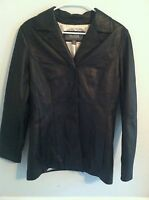 Stunning Wilson's Leather jacket coat black women's size small s pre-owned used