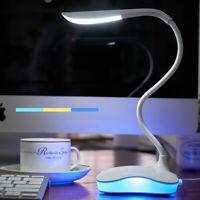 Flexible LED Desk Lamp USB Rechargeable Home Office Study Dimmable Night Light